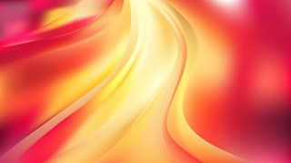 Abstract Pink and Yellow Wave Background Vector Illustration