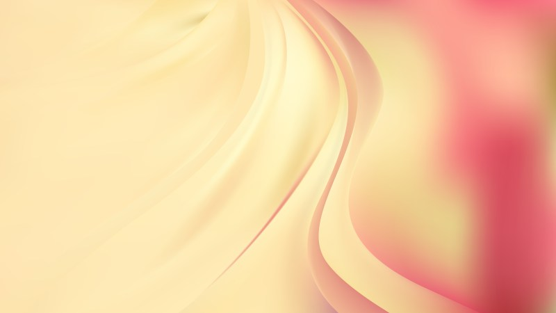 Glowing Abstract Pink and Yellow Wave Background Vector Art