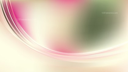 Abstract Pink Green and White Wavy Background
