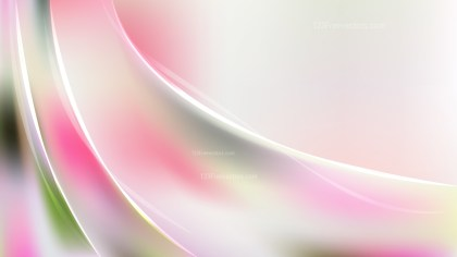 Abstract Pink Green and White Wave Background Vector Illustration