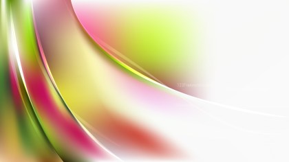 Pink Green and White Abstract Wavy Background
