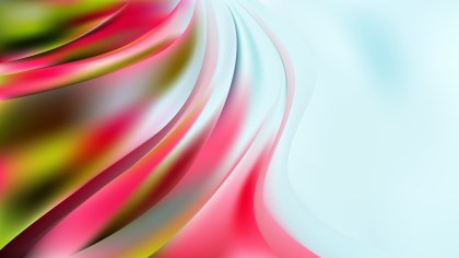 Abstract Pink Green and White Curve Background
