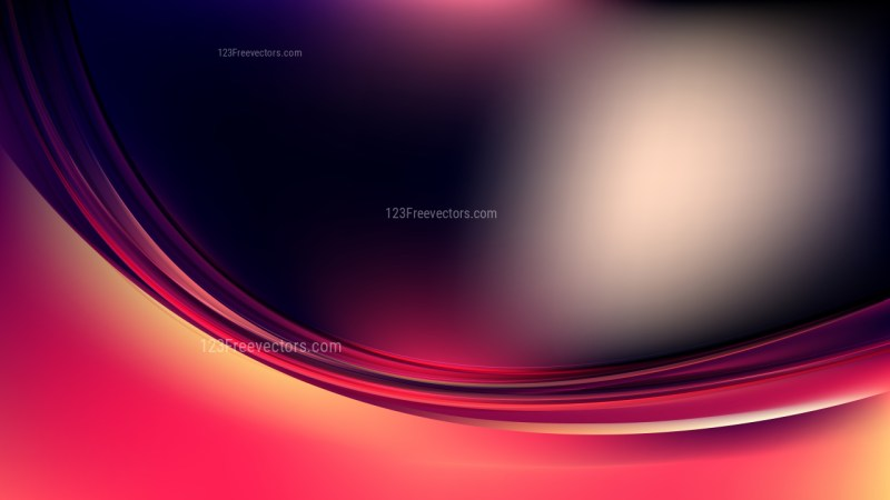 Abstract Pink Yellow and Black Curve Background Image