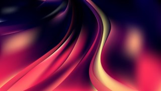 Glowing Pink Yellow and Black Wave Background Illustration