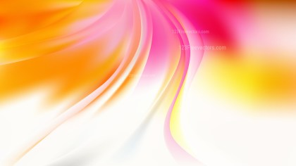 Abstract Glowing Pink Yellow and White Wave Background