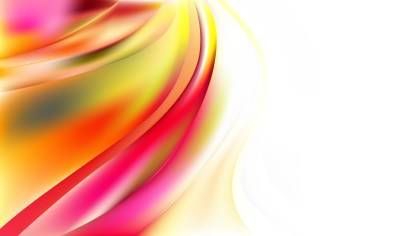 Abstract Pink Yellow and White Wavy Background Vector
