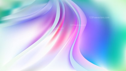 Glowing Purple and Green Wave Background