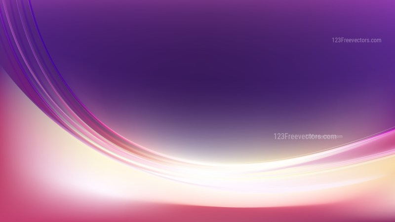 Glowing Abstract Purple and White Wave Background Illustrator