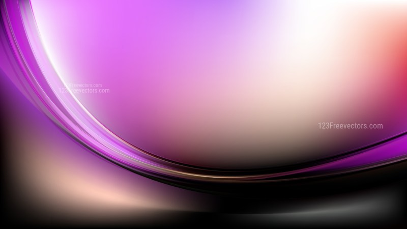 Glowing Purple Black and White Wave Background