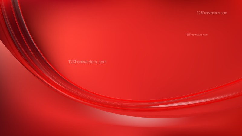 Abstract Red Curve Background