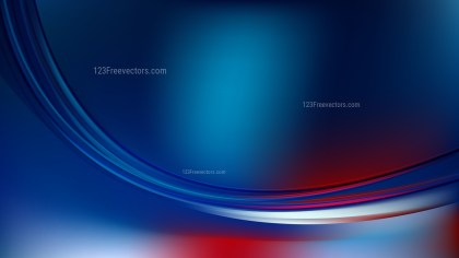 Abstract Red and Blue Wave Background Template Graphic