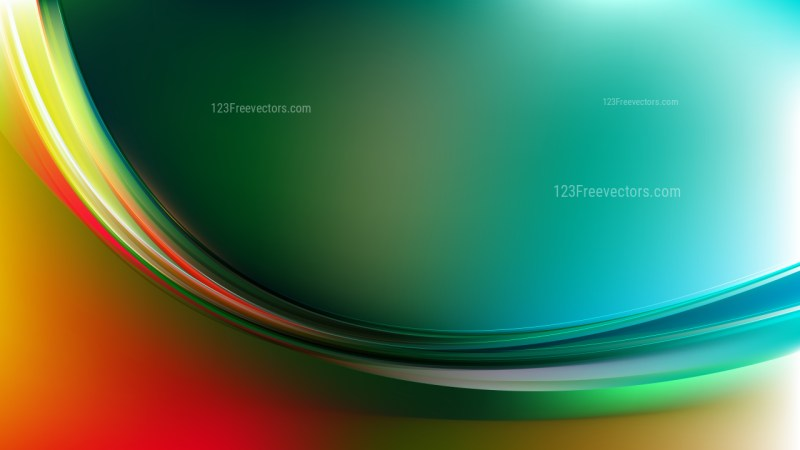 Abstract Red and Green Wavy Background