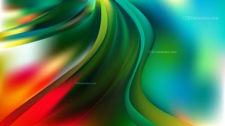 Abstract Red and Green Wavy Background Vector