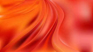 Glowing Red and Orange Wave Background Illustration