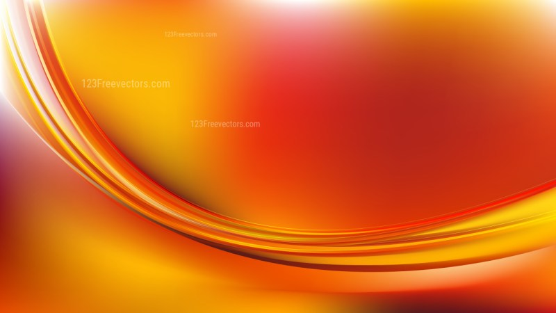 Abstract Red and Yellow Wavy Background Graphic