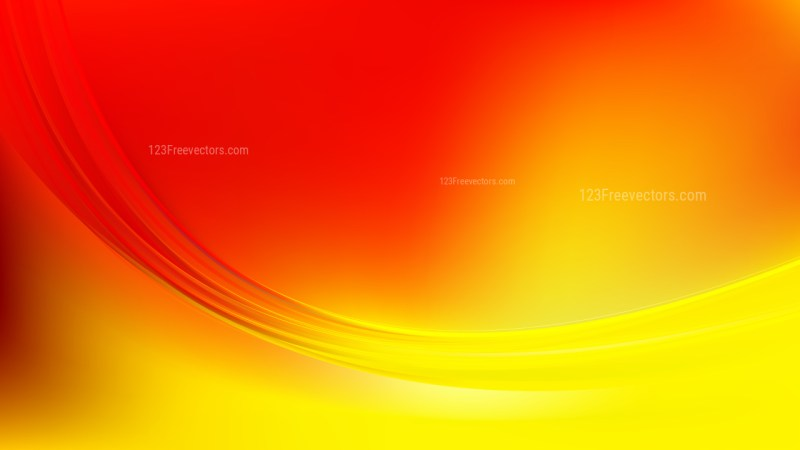 Abstract Red and Yellow Shiny Wave Background