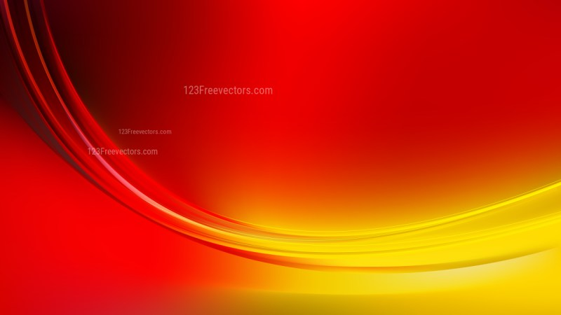 Glowing Abstract Red and Yellow Wave Background