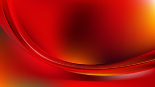 Glowing Abstract Red and Yellow Wave Background Vector