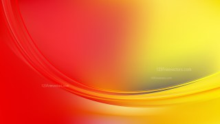 Abstract Glowing Red and Yellow Wave Background