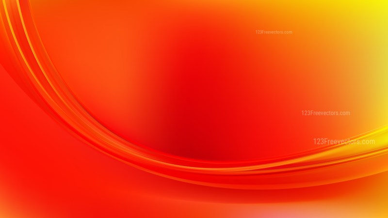 Glowing Abstract Red and Yellow Wave Background Vector Graphic