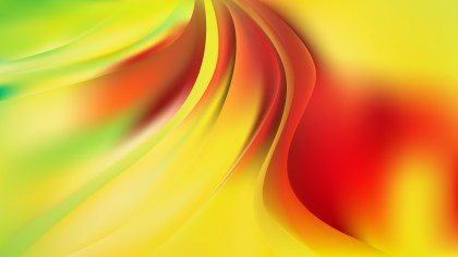 Abstract Red and Yellow Shiny Wave Background Vector Illustration