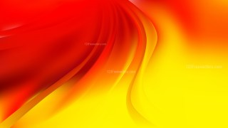 Abstract Red and Yellow Curve Background Vector Art