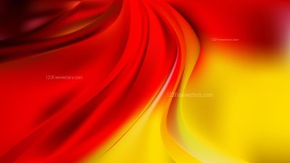 Red and Yellow Abstract Wave Background Image
