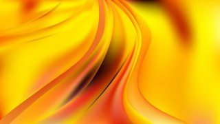 Red and Yellow Abstract Curve Background Vector Image