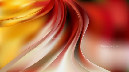 Red White and Yellow Abstract Curve Background Vector Image
