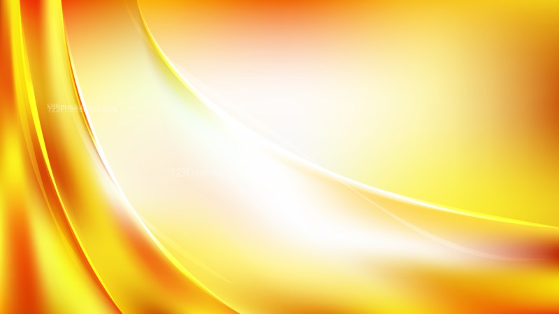 Abstract Red White and Yellow Shiny Wave Background Vector Illustration