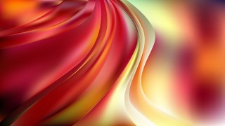 Red White and Yellow Abstract Wave Background