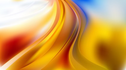 Glowing Abstract Red Yellow and Blue Wave Background