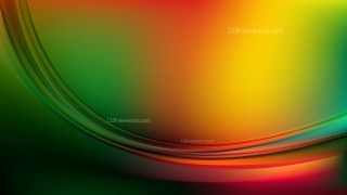 Abstract Red Yellow and Green Shiny Wave Background