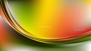 Glowing Red Yellow and Green Wave Background