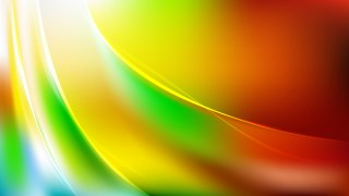Abstract Red Yellow and Green Wavy Background