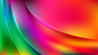 Abstract Red Yellow and Green Curve Background