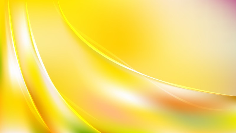 Yellow and White Abstract Curve Background