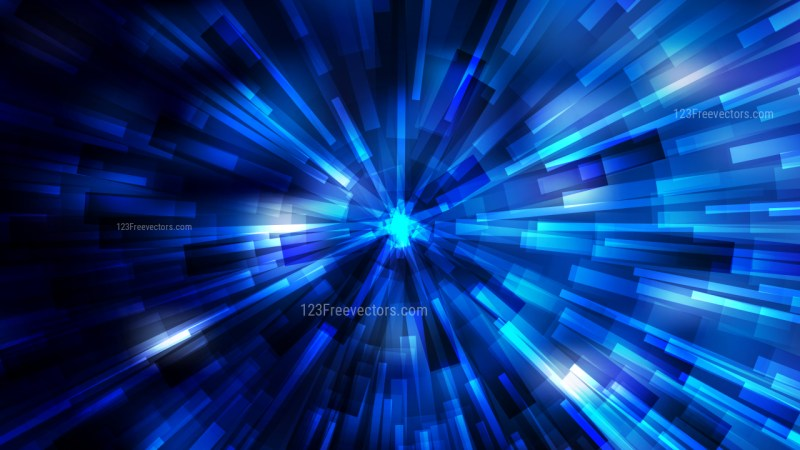 Abstract Black and Blue Starburst Background
