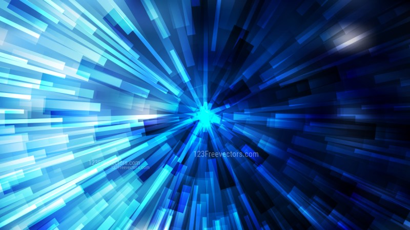 Abstract Black and Blue Radial Background