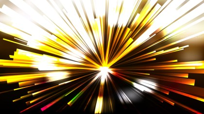 Abstract Black and Gold Radial Stripes Background