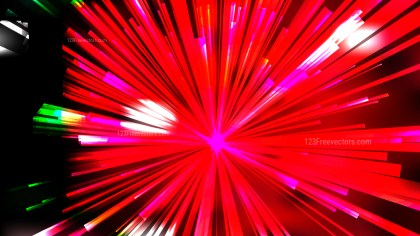 Abstract Black Red and Green Radial Sunburst Background Template