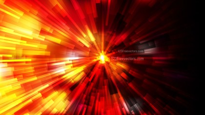 Abstract Black Red and Yellow Radial Lights Background