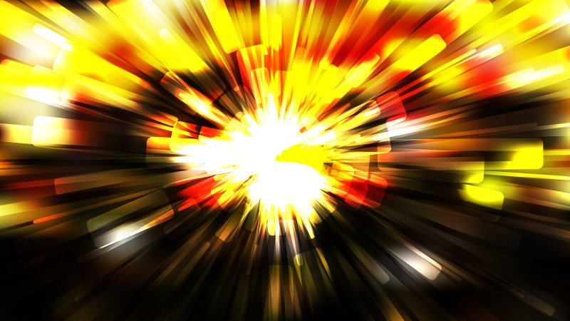 Abstract Black Red and Yellow Radial Background