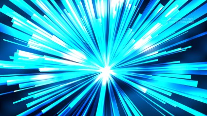 Abstract Blue Radial Sunburst Background Design
