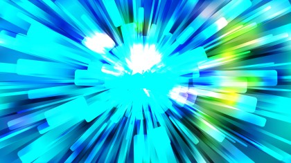 Abstract Blue and Green Radial Lights Background Vector Image