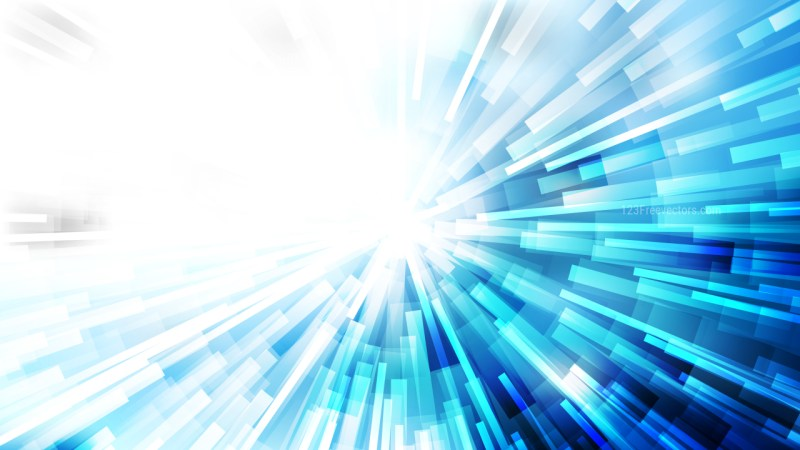 Abstract Blue and White Light Rays Background Design Template