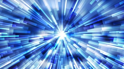 Abstract Blue and White Light Burst Background Vector