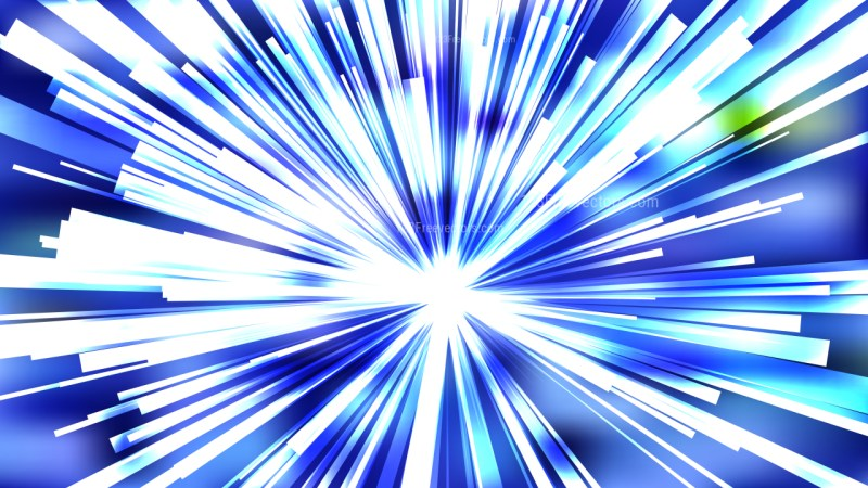 Abstract Blue and White Sunburst Background Image