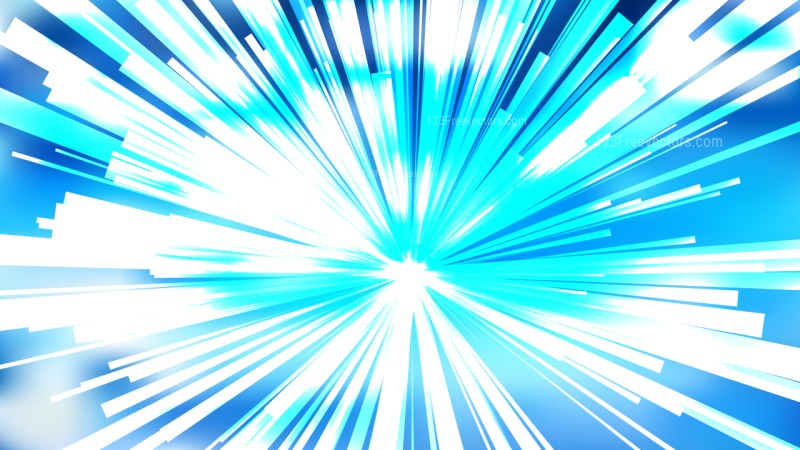 Abstract Blue and White Radial Explosion Background Vector Image