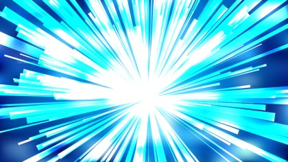 Abstract Blue and White Starburst Background